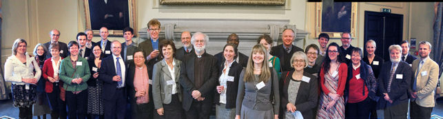 Rowan Williams with dinner guests